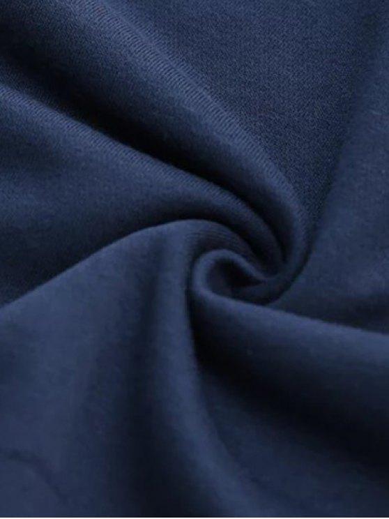 Letter Pattern Round Neck Sweatshirt - LIGHT GRAY M Mobile