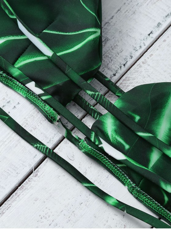 Green Banded Bikini Set - GREEN M Mobile
