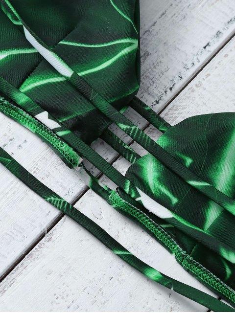 buy Green Banded Bikini Set - GREEN M Mobile