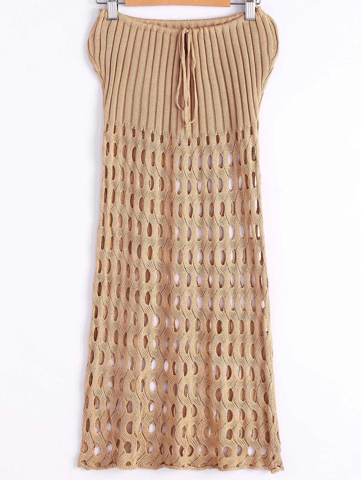 Strapless Crochet Hollow Cover-Up Dress
