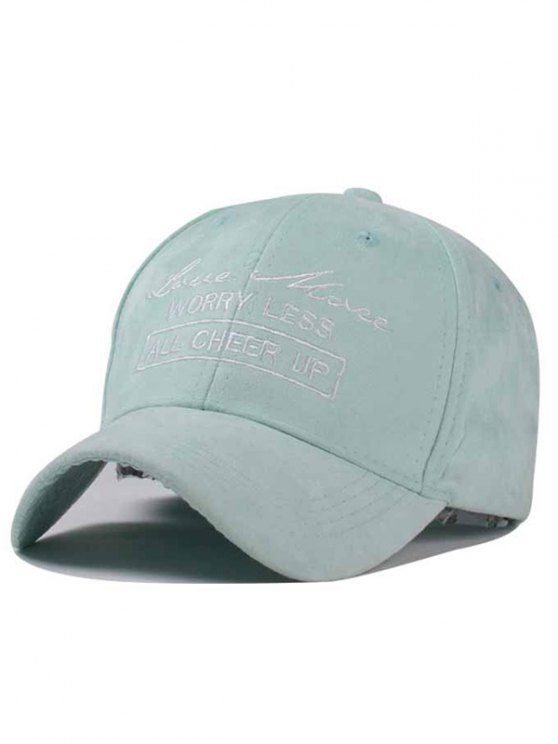 latest Letter Faux Suede Baseball Hat - MINT GREEN