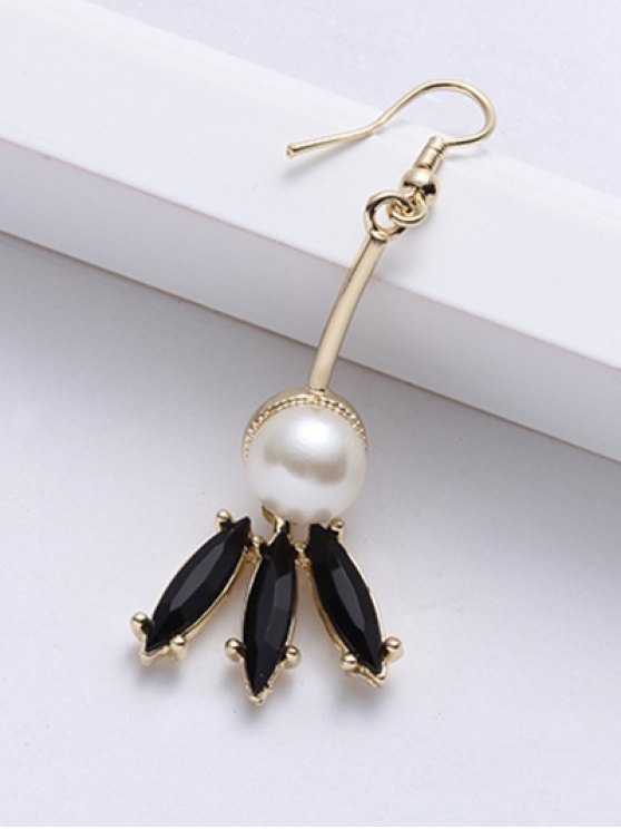 Faux Pearl Pendant Earrings - GOLDEN  Mobile