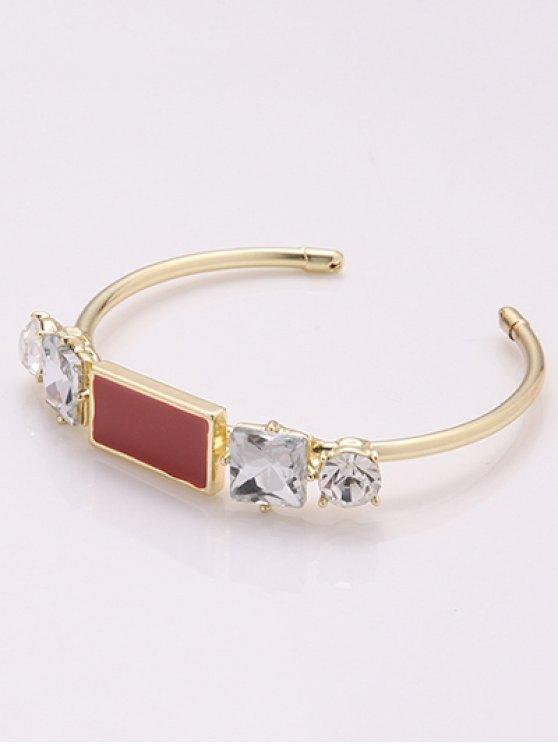 Faux Crystal Cuff Bracelet -   Mobile