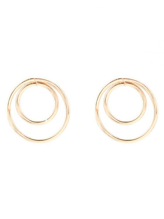 Minimaliste design Cercles Boucles d'oreilles - Or