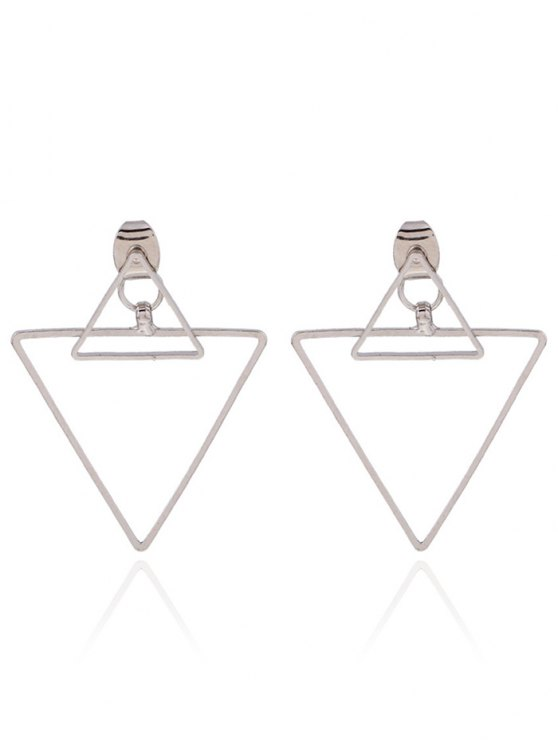 new Hollowed Triangle Punk Ear Jackets - SILVER
