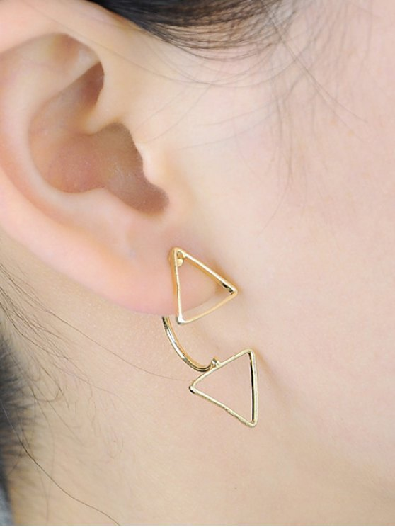 hot Triangle Ear Jackets - GOLDEN