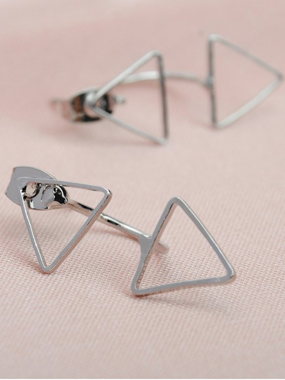 Triangle Ear Jackets - SILVER  Mobile