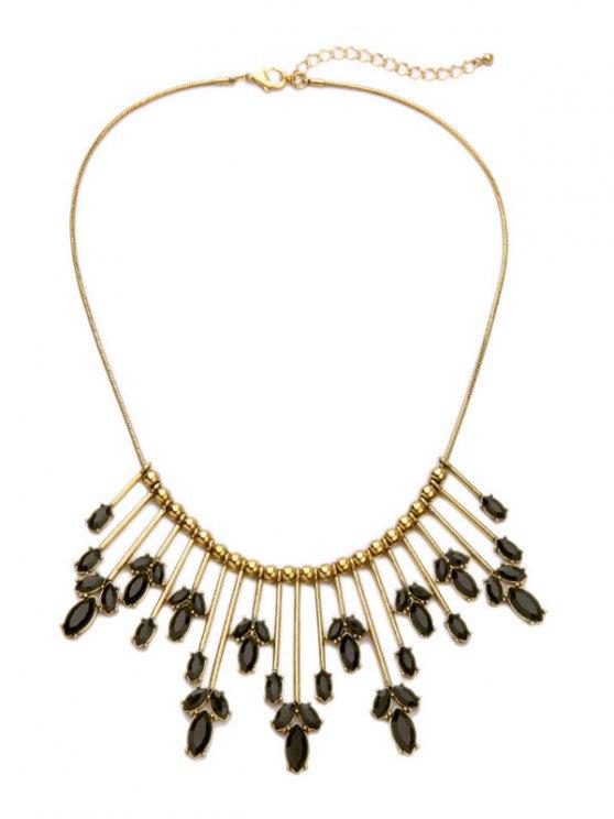 shops Leaf Shape Statement Necklace - GOLDEN