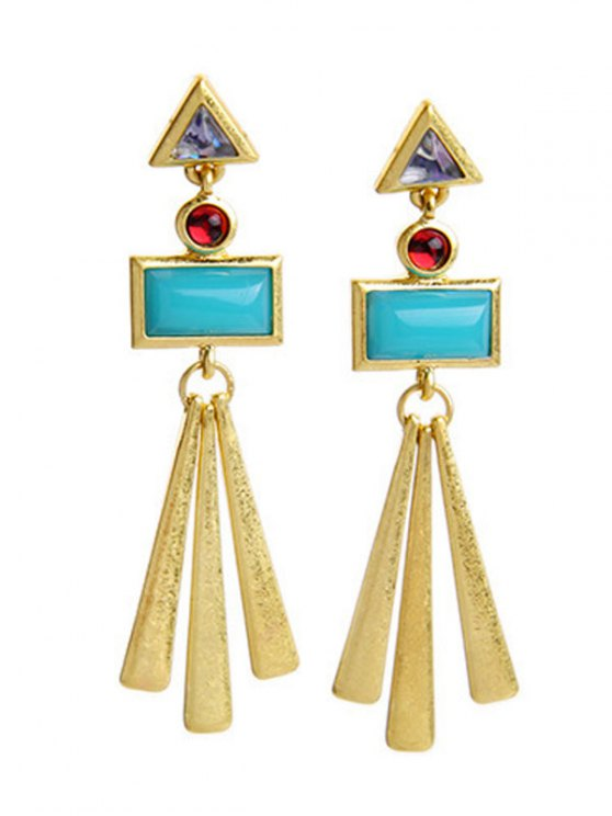 outfits Geometric Matchstick Earrings - LAKE BLUE