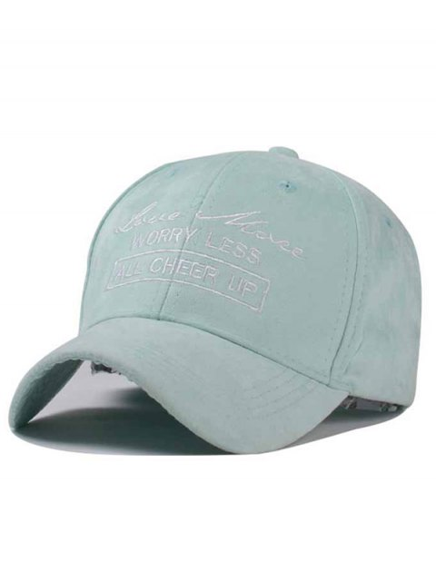 latest Letter Faux Suede Baseball Hat - MINT GREEN  Mobile