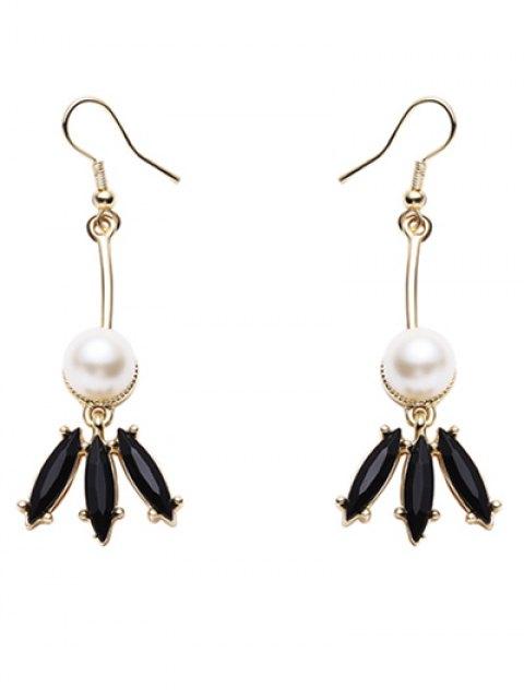 womens Faux Pearl Pendant Earrings - GOLDEN  Mobile