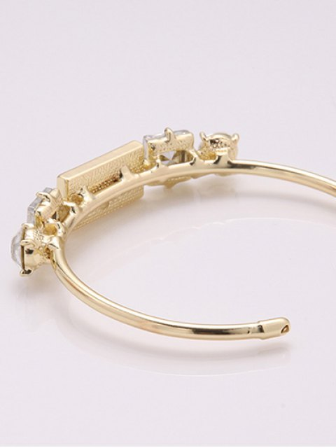 outfits Faux Crystal Cuff Bracelet -   Mobile