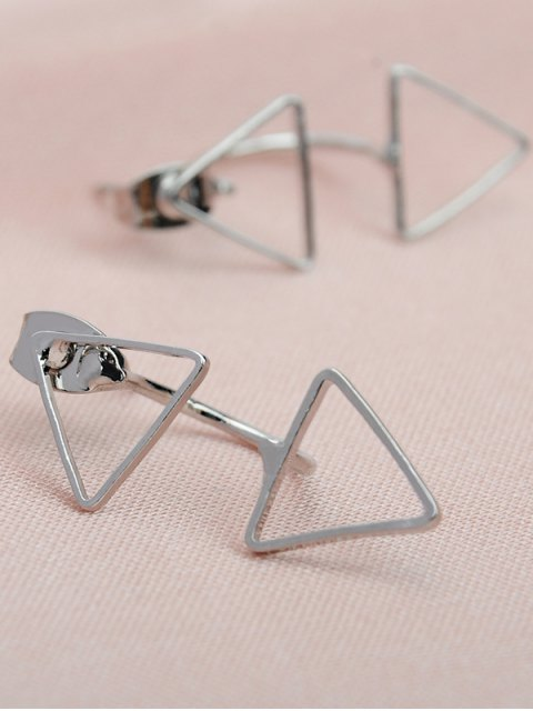 outfit Triangle Ear Jackets - SILVER  Mobile