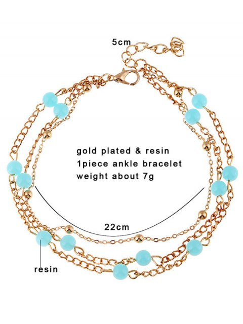 buy Bead Layered Leg Anklet - GOLDEN  Mobile