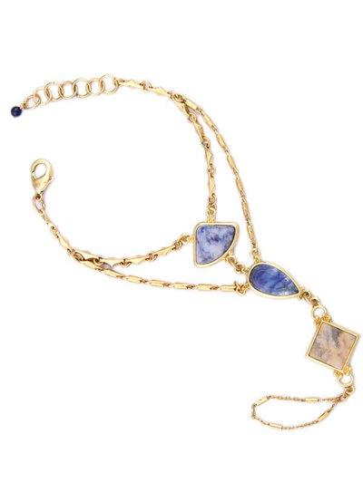 Multilayered Geometric Bracelet - GOLDEN  Mobile