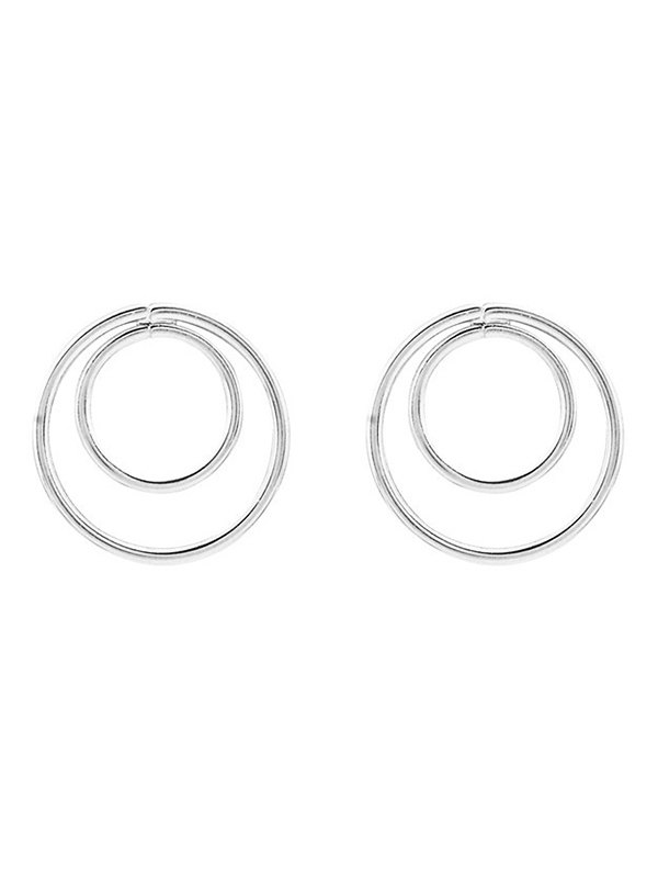 Minimalist Design Circles Earrings