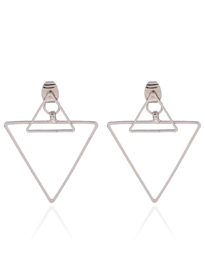 Punk Hollowed Triangle Ear Jackets