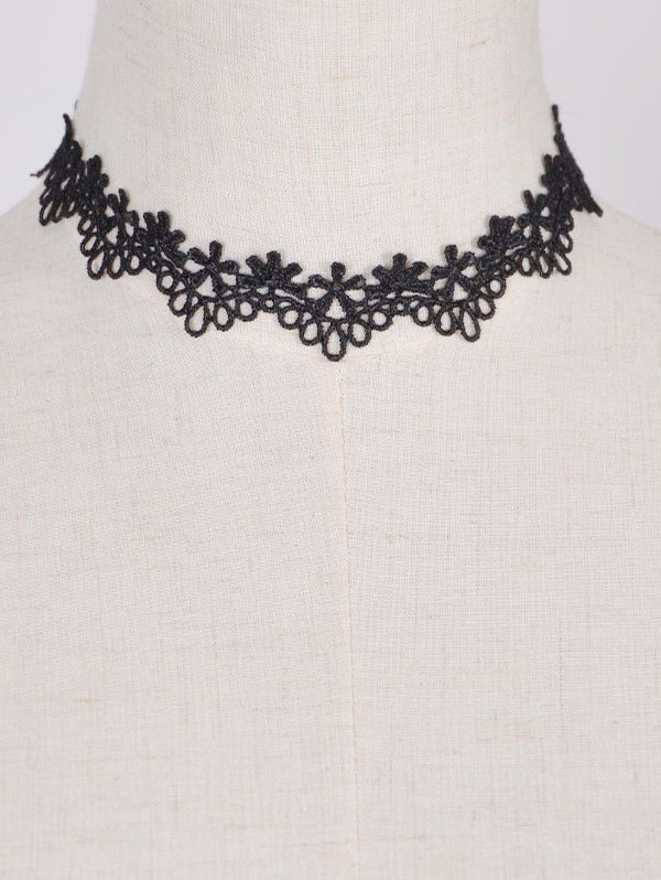 Punk Style Floral Water Drop Choker