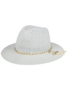 Faux Pearl Tassel Sun Hat