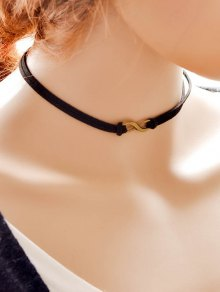 Punk Infinity Faux Leather Choker