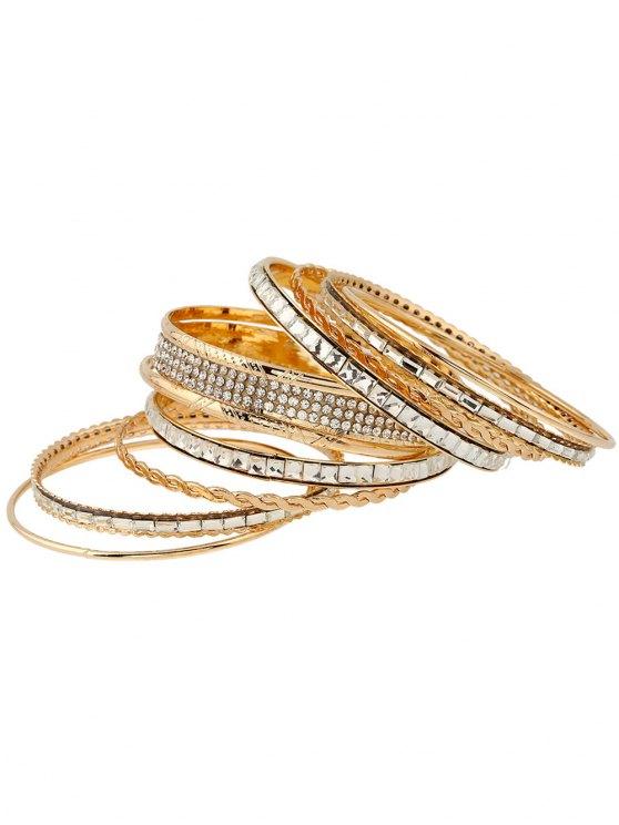Rhinestone Layered Bracelets - GOLDEN  Mobile