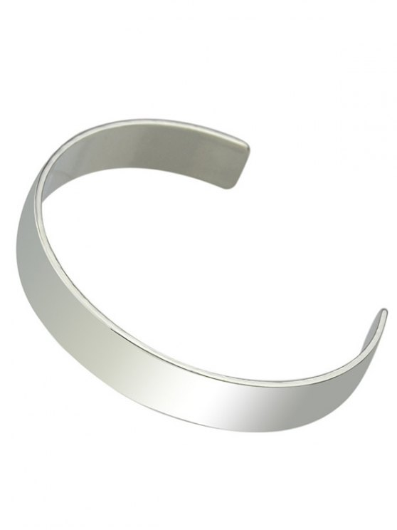Polished Cuff Bracelet - SILVER  Mobile