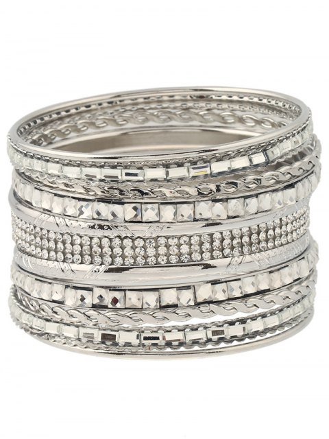 outfits Rhinestone Layered Bracelets - SILVER  Mobile