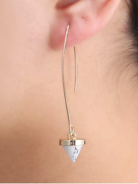 chic Faux Rammel Geometric Earrings - WHITE  Mobile