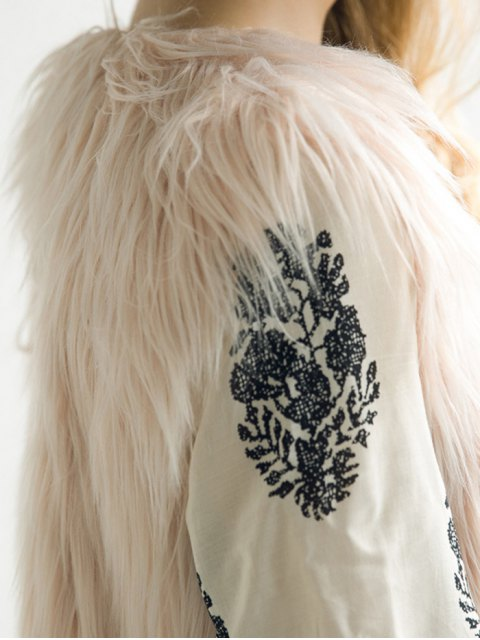 new Thicken Solid Color Long Faux Fur Waistcoat -   Mobile