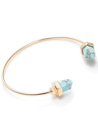 Faux Rammel Geometric Bracelet - BLUE AND GOLDEN  Mobile