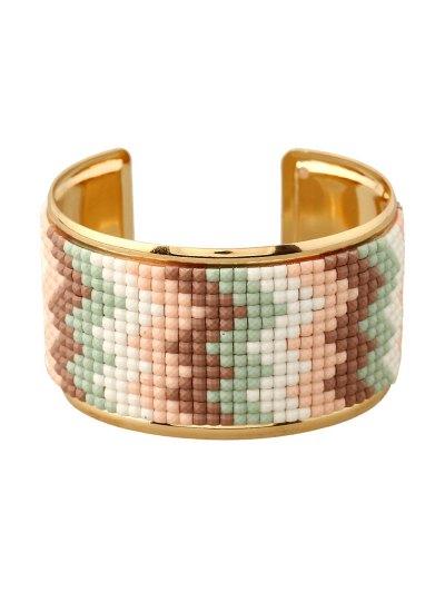 Wave Resin Cuff Bracelet - COFFEE  Mobile