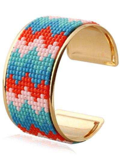 Wave Resin Cuff Bracelet - BLUE  Mobile