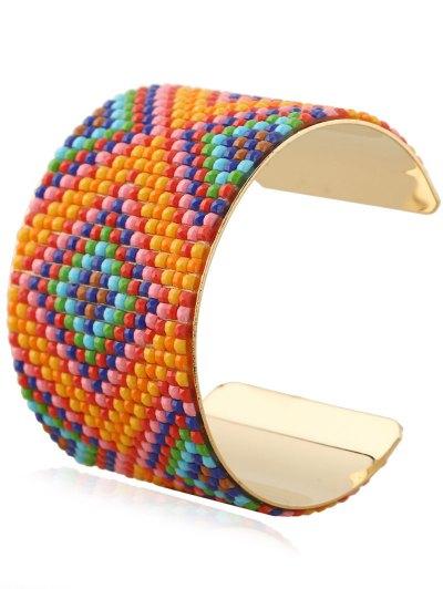 Resin Rhombus Cuff Bracelet - ORANGEPINK  Mobile