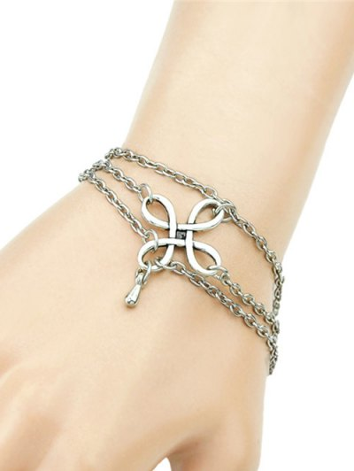 Chinese Knot Bracelet - SILVER  Mobile
