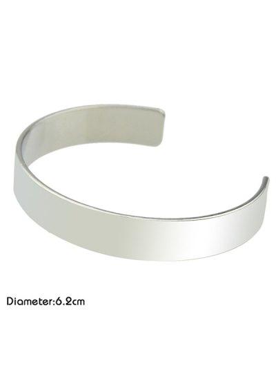 Polished Cuff Bracelet - SILVER  Mobile