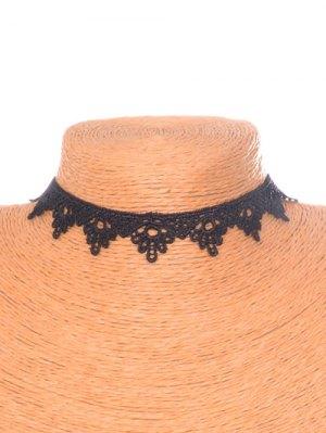 Floral Triangle Choker - Black