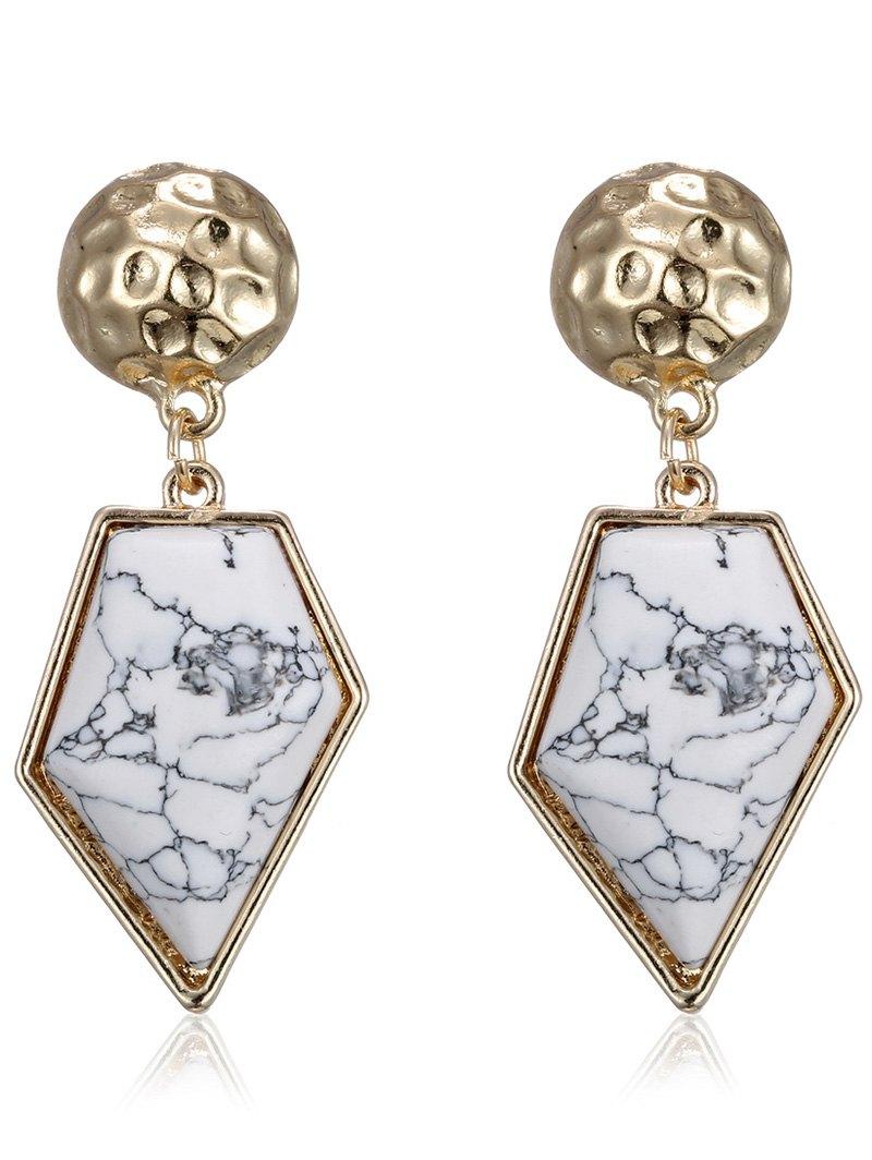 Faux Rammel Polygon EarringsAccessories<br><br><br>Color: WHITE