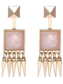 Faux Gem Rivet Earrings