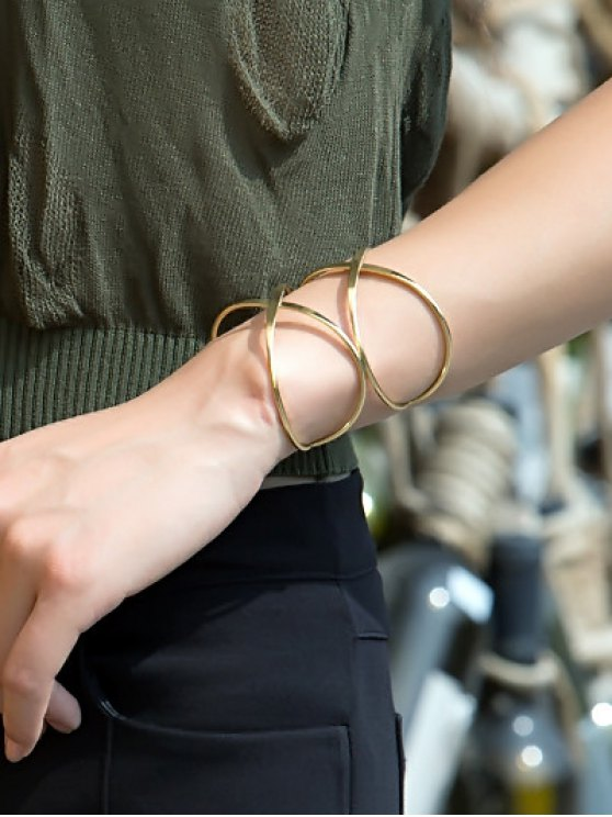 new Heart Crisscross Layered Bracelet - GOLDEN