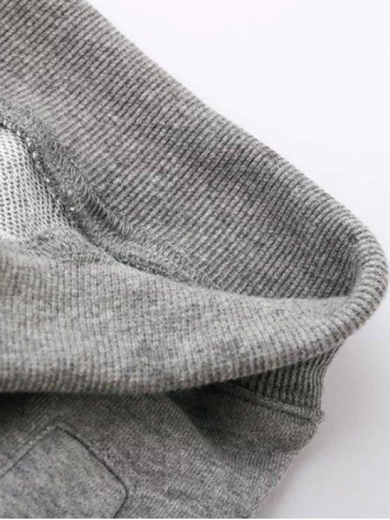 Striped Drawstring Active Pants - PURPLISH BLUE L Mobile