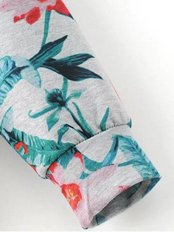 Floral Print Sweatshirt - COLORMIX M Mobile