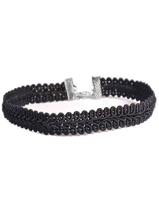 lady Leaf Choker Necklace - BLACK