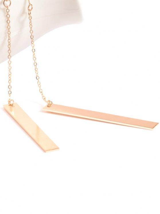Bar Drop Earrings - GOLDEN  Mobile