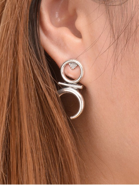 shop Moon Round Drop Earrings - SILVER
