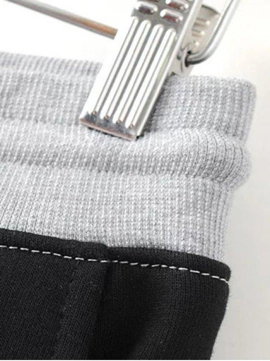 Color Block Jogging Pants - GRAY S Mobile