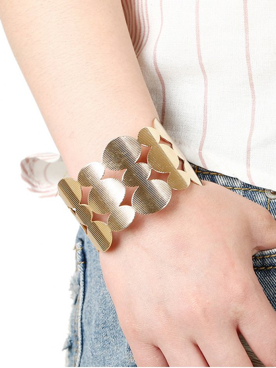 Tiered Cut Out Round Bracelet -   Mobile
