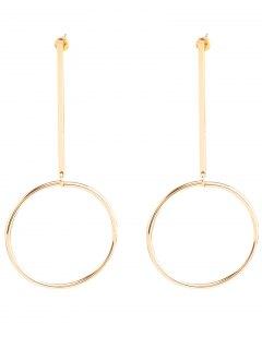 Circle Bar Earrings - Golden