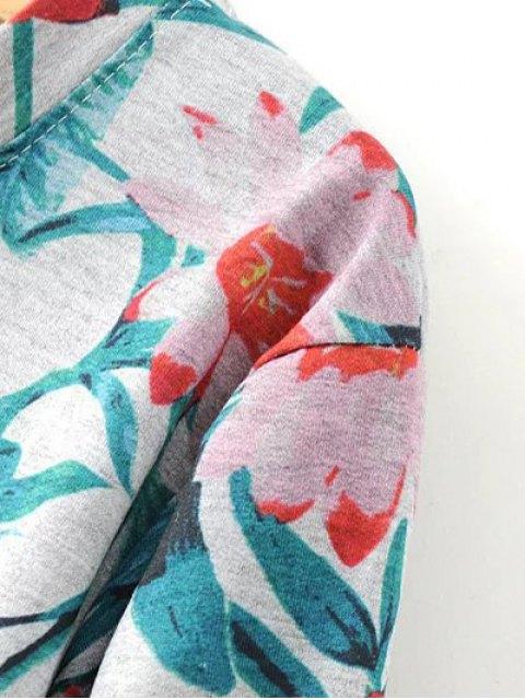 shops Floral Print Sweatshirt - COLORMIX L Mobile