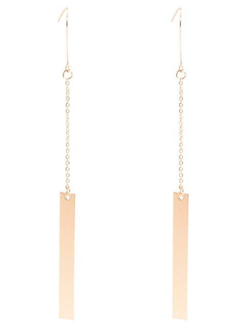 online Bar Drop Earrings - GOLDEN  Mobile