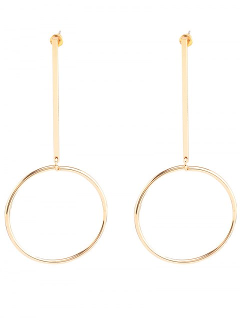 hot Circle Bar Earrings - GOLDEN  Mobile